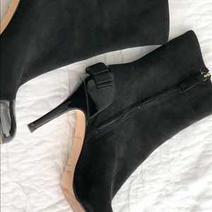 Kate spade booties black bows 6.5 6 1/2